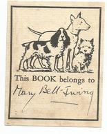 ANGLETERRE , ENGLAND : EX - LIBRIS : THIS BOOK BELONGS TO .... - Ex-libris