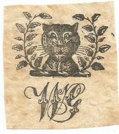ANGLETERRE , ENGLAND : EX - LIBRIS : A CAT - Ex-libris