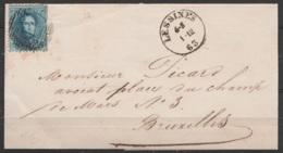 L. Affr. N°15 Càd LESSINES /1-12/1863 Pour Avocat à BRUXELLES - 1863-1864 Medallions (13/16)