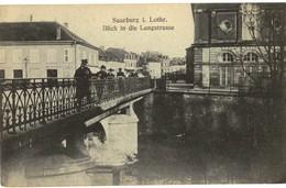 CPA N°23057 - SAARBURG I. LOTHR. - BLICK IN DIE LANGSTRASSE - Sarrebourg