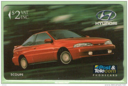Fiji - 1992 Martin Motor Co - $2 Hyundai Scoupe - FIJ-008 - Mint - Fiji
