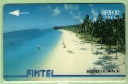 Fiji - Fintel - 1993 Third Issue - $10 Vatuele Beach - FIJ-FI-5 - VFU - Fidschi