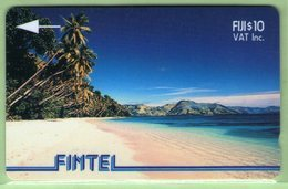 Fiji - Fintel - 1993 Second Issue - $10 Palms & Beach - FIJ-FI-4a - VFU - Fidschi
