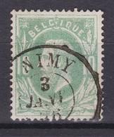 N° 30 : NIMY  Double Cercle - 1869-1883 Léopold II