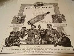 ANCIENNE PUBLICITE LIQUEUR GRANDE CHARTREUSE 1940 - Alcools