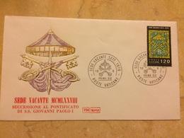 1978 2 FDC Vaticano  Sede Vacante Apertura Conclave Successione Giovanni Paolo  I - Storia Postale