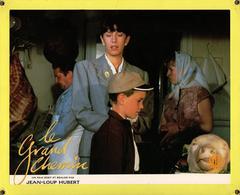 Grande Affichette Cartonnée, Promo De Film, Salle De Cinéma - Le Grand Chemin, Anémone & Antoine Hubert - 1987 Tête Veau - Photographie