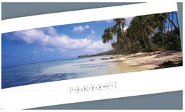 (444) Fiji - With (folded) Stamp At Back Of Card - Beach - Fiji