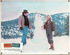 Grande Affichette Cartonnée, Promo De Film, Salle De Cinéma - Le Bonhomme De Neige De Coast To Coast - 1980 - R. Blake - Photographie