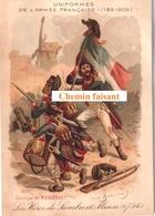 Chromo RICQLES - Uniformes Armée Française : Héros De Sambre Et Meuse 1794 -  Scans Recto-verso - Chromos