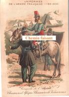 Chromo RICQLES - Uniformes Armée Française : Chasseurs D'Afique & Vincennes -  Scans Recto-verso - Other