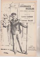 (GEO) LES JOURNAUX RIGOLOS , Paroles LUCIEN CARRON , Musique LAURENT HALET , - Scores & Partitions