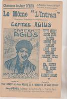 (GEO) LE MÖME L' INTRAN , CARMEN AGIUS , Paroles JEAN PEHEU , Musique H ROBERTY , Illustration POUSTHOMIS - Partitions Musicales Anciennes
