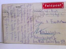 Seltene AK Bamberg. Domplatz, Domportal, Reiterstandbild, Giebelhäuser, Kupfertiefdruck, Feldpost 1914 Mit Rot - Unclassified