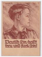 Dt.-Reich (000077) Propagandakarte Hitlerjugend Deutsch Sein Heißt Treu Und Stark Sein! Gelaufen Berlin Am 1.8.1936 - Deutschland