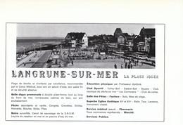 1972 - Iconographie - Langrune-sur-Mer (Calvados) - Présentation - FRANCO DE PORT - Old Paper