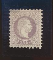 AUSTRIA Yvert 38 B MH Léger Aminci -coin Sup.  Cote 400 Euro On 1% - 1850-1918 Empire