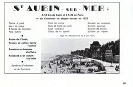 1972 - Iconographie - Saint-Aubin-sur-Mer (Seine-Maritime) - Présentation - FRANCO DE PORT - Old Paper