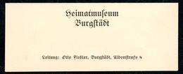 B7322 - Burgstädt Heimatmuseum - Otto Fiedler - Visitenkarte - Visitenkarten