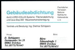 A3351 - Zwickau - Loro Collix - Ing. Dietmar Schippers - Visitenkarte - Visitenkarten