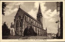 Cp Pleurtuit Ille Et Vilaine, Le Monument Et L'Eglise - France