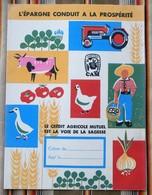 Ancien Protege Cahier D'Ecole PUBLICITAIRE 51 Chalons CREDIT AGRICOLE Illustrateur Pas Courant - Copertine Di Libri