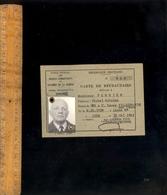 Militaire Guerre WWII 1944 : Office Des Anciens Combattants Du Rhône Carte De Réfractaire N° 984 Villefranche Sur Saône - Historical Documents
