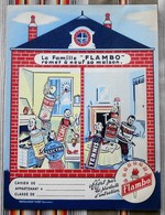 Ancien Protege Cahier D'Ecole PUBLICITAIRE  Famille FLAMBO - Book Covers