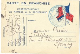 GUERRE 14-18 AMBULANCE 3 * 155e DIVISION D'INFANTERIE * Secteur 134 - Marcophilie (Lettres)