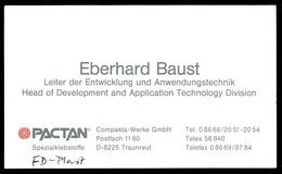 B7325 - Traunreut - PACTAN - Eberhard Baust - Visitenkarte - Visitenkarten