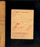Militaire Guerre WWII 1943 : Fiche De Recensement & Ordre D'affectation  Main D'Oeuvre Française En Allemagne - Historical Documents