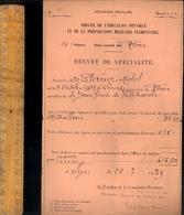 Militaire Guerre WWII 1939 : Jeune Garde De Villefranche Sur Saône Brevet De Mitrailleur 38,5 - Historical Documents