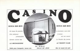 1972 - Iconographie - Berck (Pas-de-Calais) - Le Casino - FRANCO DE PORT - Old Paper