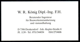 B7328 - Denkendorf - W.R. König - Visitenkarte - Visitenkarten