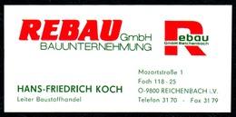 B7329 - Reichenbach I.V. - REBAU - Hans Friedrich Koch - Leiter Baustoffhandel - Visitenkarte - Visitenkarten