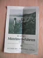 HAPAG Mittelmeer-Fahrten...Deutschen Motorschiff Milwaukee.HAMBURG-AMERIKA LINIE - Wereld