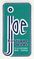 AUTOCOLLANTS . STICKER . JOE  BOUTIQUE MODE . 14 RUE DE LA BOURGOGNE  DUNKERQUE - Stickers