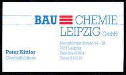 B7332 - Leipzig - BAU Chemie - Peter Kittler Geschäftsführer - Visitenkarte - Cartoncini Da Visita
