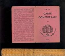 Carte De Membre CFTC Syndicat Des Ingénieurs De La Région Lyonnaise Lyon 1951 Avec Timbres Cotisation - Old Paper
