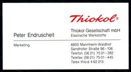 B7333 - Mannheim Waldhof - THIOKOL - Peter Endruscheit - Visitenkarte - Visitenkarten