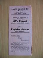 Nemacki Saobracajni Biro Beograd.Railway Discount For Germany - Europe