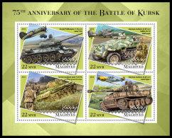 MALDIVES 2018 MNH** Battle Of Kursk Schlacht Um Kursk M/S - IMPERFORATED - DH1834 - 2. Weltkrieg