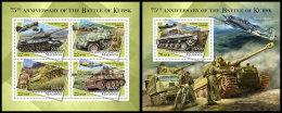 MALDIVES 2018 MNH** Battle Of Kursk Schlacht Um Kursk M/S+S/S - IMPERFORATED - DH1834 - 2. Weltkrieg