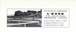 1972 - Iconographie - Deauville (Calvados) - Le Club Hippique L'Oxer - FRANCO DE PORT - Old Paper