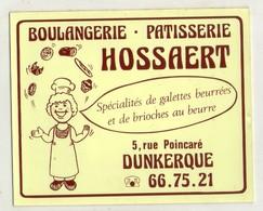 AUTOCOLLANTS . STICKER .BOULANGERIE . PATISSERIE . HOSSAERT . 5 RUE POINCARE . DUNKERQUE . - Stickers