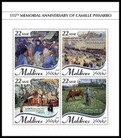 MALDIVES 2018 MNH** Camille Pissarro Painter Maler Peintre M/S - OFFICIAL ISSUE - DH1837 - Künste