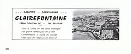1972 - Iconographie - Deauville (Calvados) - Le Camping Clairefontaine - FRANCO DE PORT - Old Paper