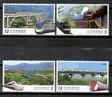 China 2017 Taiwan / Railways Trains Bridges MNH Trenes Puentes Brücken Züge / Cu9519  41 - Trenes