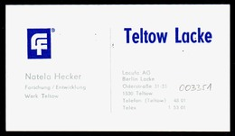 B7335 - Berlin Teltow - Lacufa Lacke - Natela Hecker - Visitenkarte - Cartoncini Da Visita