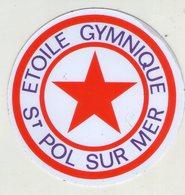 AUTOCOLLANTS . STICKER . ETOILE GYMNIQUE . SAINT-POL-SUR-MER . - Stickers